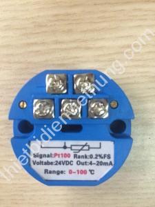 Bộ chuyển đổi tín hiệu can Pt100 (0-100oC)