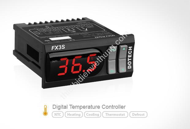 Bộ điều khiển nhiệt độ 12VDC Dotech FX3S-00-T